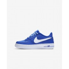 Nike Air Force 1 LV8 NBA Lifestyle Shoes For Boys Game Royal/White 911NERLP