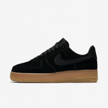Nike Air Force 1 07 SE Lifestyle Shoes For Women Black/Gum Medium Brown/Ivory 911SGWLT