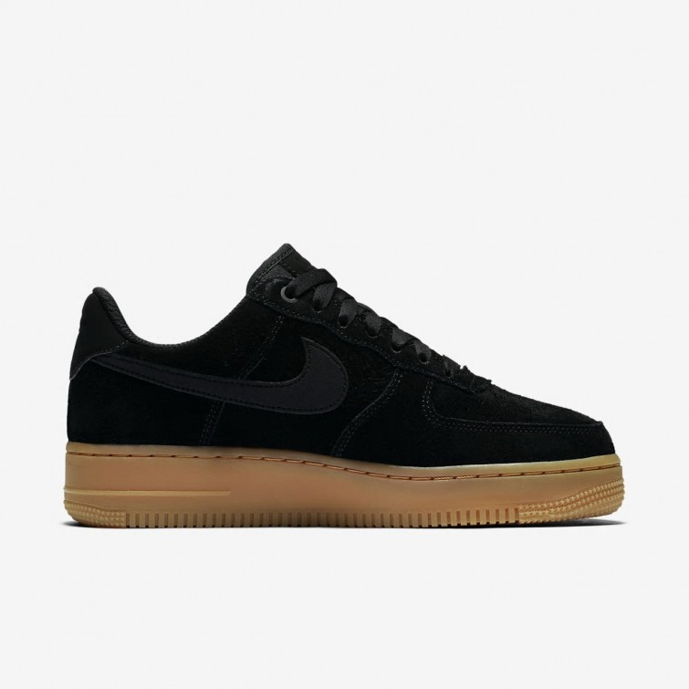 uk availability d5bf8 a7b46 ... Nike Air Force 1 07 SE Lifestyle Shoes For Women Black Gum Medium Brown   ...