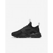 Nike Air Huarache Ultra Lifestyle Shoes For Boys Black 698JHZME