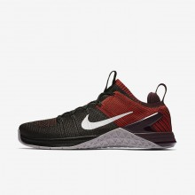 Nike Metcon DSX Flyknit 2 Training Shoes For Men Black/Chile Red/Vast Grey 269DUPHX