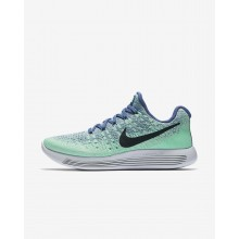 Nike LunarEpic Low Running Shoes Womens Blue Moon/Vapor Green/Green Glow/Dark Obsidian 827QGHSA