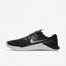 Nike Metcon 4 Training Shoes For Women Black/White/Volt Glow/Metallic Silver 600CTYAD