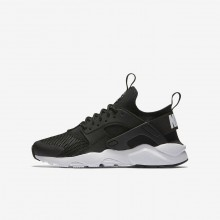 Nike Air Huarache Ultra Lifestyle Shoes For Boys Black/White 979ZLFMD