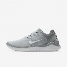 Nike Free RN 2018 Running Shoes For Men Wolf Grey/White/Volt 769KSLJH