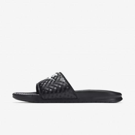 Zapatillas Casual Nike Benassi Mujer Negras/Blancas 508WQSKH