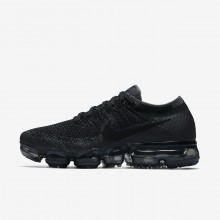 420eb931b250d7 Nike Air VaporMax Flyknit Running Shoes For Women Black Dark  Grey Anthracite 148LNRGY