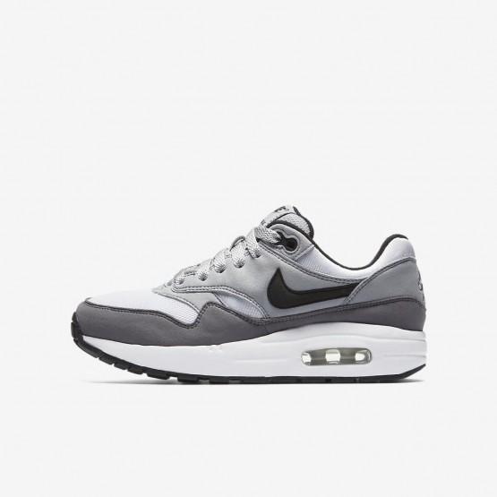 Nike Air Max 1 Lifestyle Shoes For Boys White/Wolf Grey/Gunsmoke/Black 565OUXTK