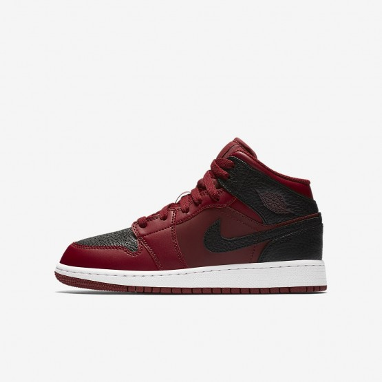 Nike Air Jordan 1 Mid Lifestyle Shoes For Boys Team Red/Summit White/Gym Red 804LFHXR