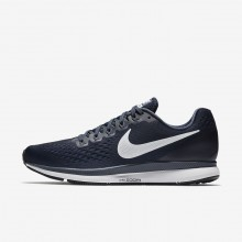 Nike Air Zoom Pegasus 34 Running Shoes For Men Obsidian/Thunder Blue/Black/White 659WMTQJ