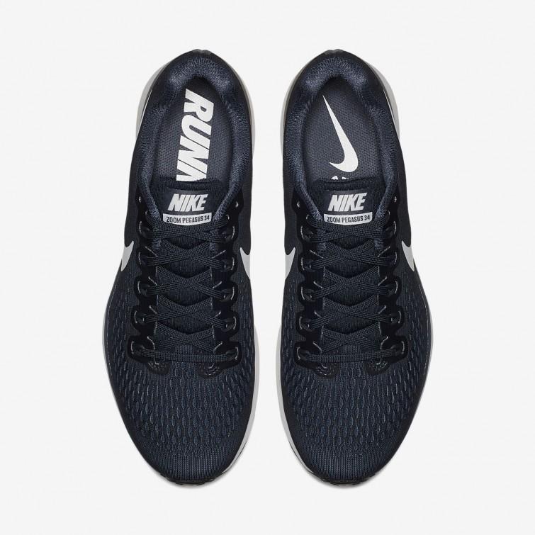 pretty nice ddf51 3d252 ... Sapatilhas Running Nike Air Zoom Pegasus 34 Homem  ObsidianaAzuisPretasBranco 251QKHUW ...