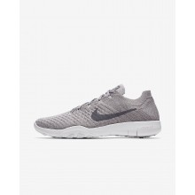 Nike Free TR Flyknit 2 Training Shoes For Women Atmosphere Grey/White/Gunsmoke 162DAPHW