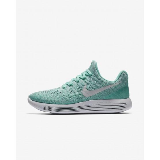 Nike LunarEpic Low Flyknit 2 Hardloopschoenen Dames Turquoise/Platina 482QUDGP