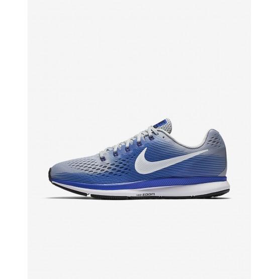 Nike Air Zoom Pegasus 34 Laufschuhe Herren Grau/Blau/Tiefes Königsblau Blau/Weiß 894CHDPN