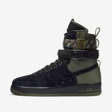 Nike SF Air Force 1 Lifestyle Shoes For Men Black/Medium Olive/Neutral Olive 148KSGZU