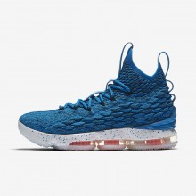 Nike LeBron 15 Basketball Shoes For Women Photo Blue/Total Orange/Summit White 771TPABI