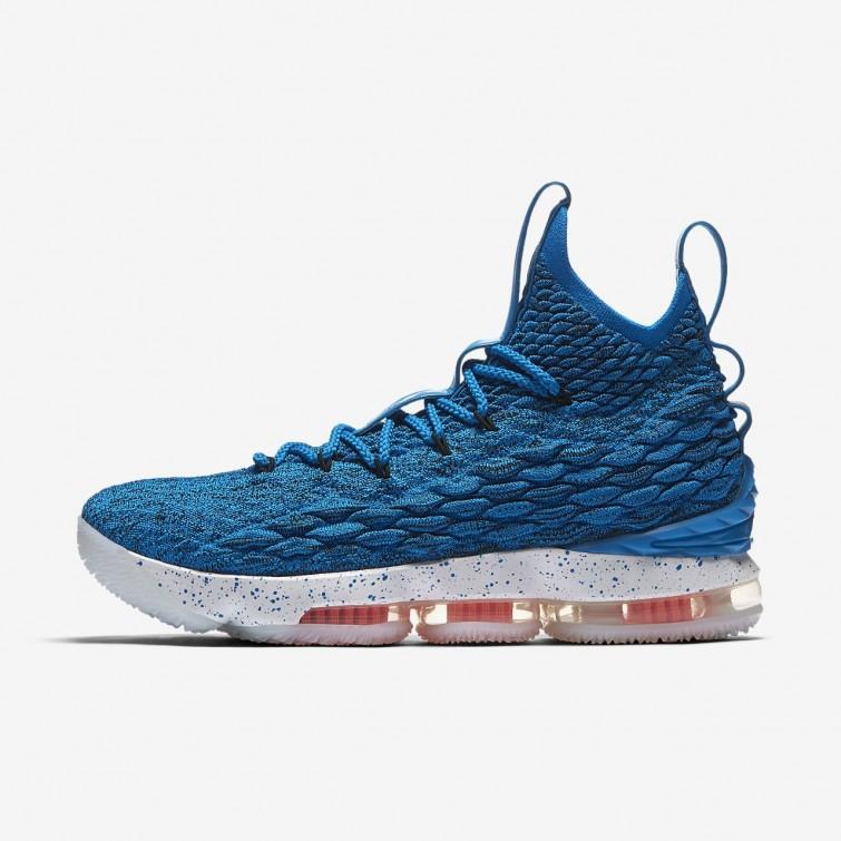 Nike LeBron 15 Basketball Shoes For Women Photo Blue Total Orange Summit  White 771TPABI 4619e58b96