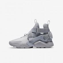 Nike Huarache City Lifestyle Shoes For Boys Wolf Grey/Black/White 964YZNRD