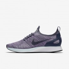 Nike Air Zoom Mariah Flyknit Racer Lifestyle Shoes For Women Light Carbon/Summit White/Glacier Blue 136YUDRT