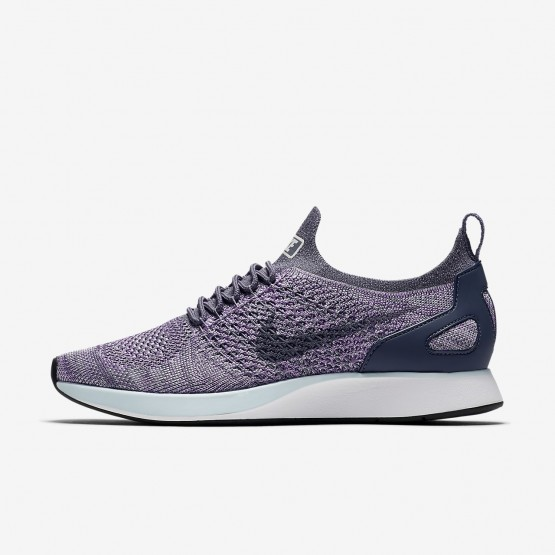 Sapatilhas Casual Nike Air Zoom Mariah Flyknit Racer Mulher Luz/Branco/Azuis 242VMZHK