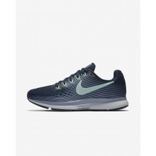 Nike Air Zoom Pegasus 34 Running Shoes For Women Armory Navy/Glacier Grey/Black/Mint Foam 473DEJMG