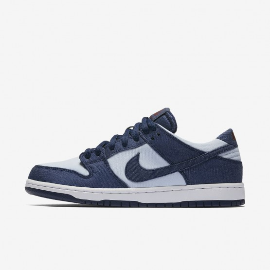 Nike SB Dunk Low Pro Skateboarding Shoes For Men Binary Blue/Hydrogen Blue/Dark Team Red 378XSUFW