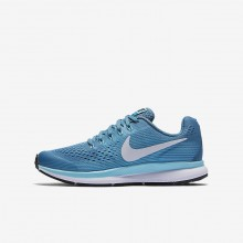 Nike Zoom Pegasus 34 Running Shoes For Girls Noise Aqua/Bleached Aqua/Green Abyss/White 976EHXYG