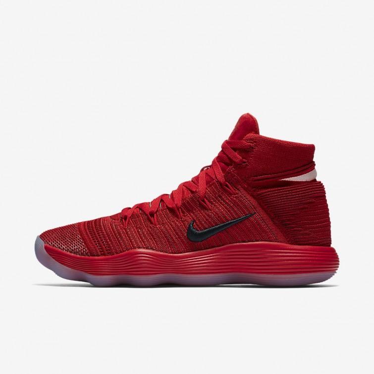 7bbe785e4273 Zapatillas Baloncesto Nike React Hyperdunk 2017 Flyknit Mujer  Rojas Plateadas 366EAWGQ