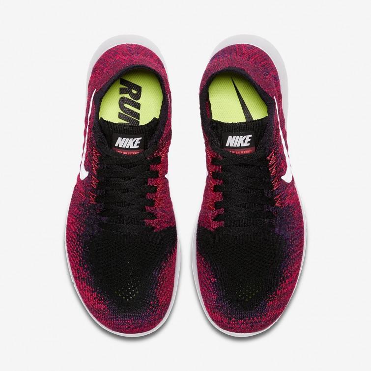 37e14f7f692d ... Nike Free RN Flyknit 2017 Running Shoes For Boys Black Total Crimson University  Red ...