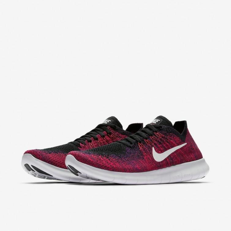 916c0d64c199 ... Nike Free RN Flyknit 2017 Running Shoes For Boys Black Total Crimson University  Red