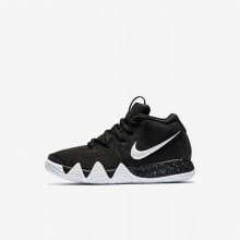 Nike Kyrie 4 Basketball Shoes For Girls Black/Anthracite/Light Racer Blue/White 599LCFBP