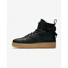 Nike SF Air Force 1 Mid Lifestyle Shoes For Women Black/Gum Light Brown 511BLURW