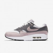 Zapatillas Casual Nike Air Max 1 Mujer Gris/Negras/Rosas 609IEXTN