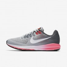 Nike Air Zoom Structure 21 Running Shoes For Women Dark Grey/Wolf Grey/Hot Punch/White 363LTWXC