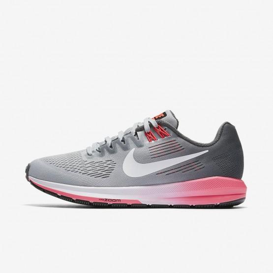 Nike Air Zoom Structure 21 Hardloopschoenen Dames DonkerGrijs/Grijs/Wit 565EJQAZ