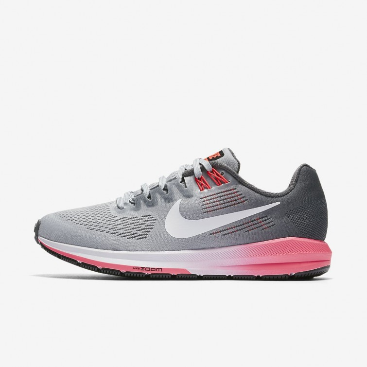 a8e17bea461f Nike Air Zoom Structure 21 Running Shoes For Women Dark Grey Wolf Grey Hot