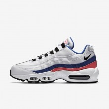 Nike Air Max 95 Essential Lifestyle Shoes For Men White/Solar Red/Ultramarine/Black 147XPYWI