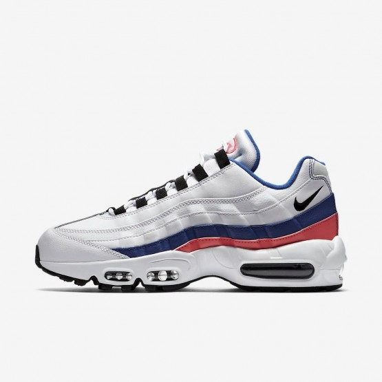 size 40 96d94 7fda0 Nike Air Max 95 Essential Lifestyle Shoes For Men White Solar Red  Ultramarine