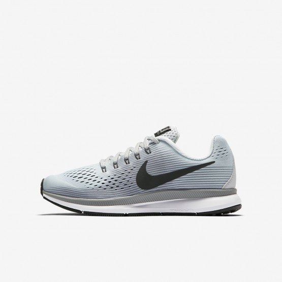 Nike Zoom Pegasus 34 Running Shoes For Boys Pure Platinum/Cool Grey/Wolf Grey/Anthracite 816FUAVC