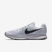Nike Air Zoom Pegasus 34 Running Shoes For Men White/Pure Platinum/Wolf Grey/Anthracite 295SWHKA