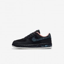 Zapatillas Casual Nike Air Force 1 Pinnacle QS Niño Negras/Blancas 301RIPWX