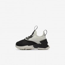 Nike Huarache Run Drift Lifestyle Shoes For Girls Black/White/Sail 461IFSEJ