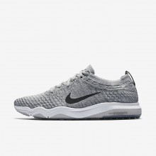 Nike Air Zoom Fearless Flyknit Lux Training Shoes For Women Wolf Grey/White/Anthracite 376SBYZT