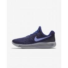 Sapatilhas Running Nike LunarEpic Low Flyknit 2 Mulher Escuro Azul Escuro Marinho Azuis/Pretas/Luz 462WIXPM