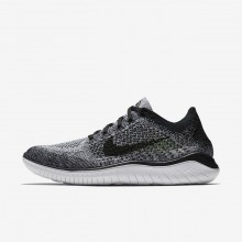 Sapatilhas Running Nike Free RN Flyknit 2018 Homem Branco/Pretas 667HIMKE