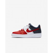 Nike Air Force 1 LV8 Lifestyle Shoes For Boys University Red/Midnight Navy/University Gold 721HEGMQ
