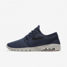 Nike SB Stefan Janoski Max Skateboarding Shoes For Men Thunder Blue/Gum Medium Brown/Light Bone/Black 968BHVLD