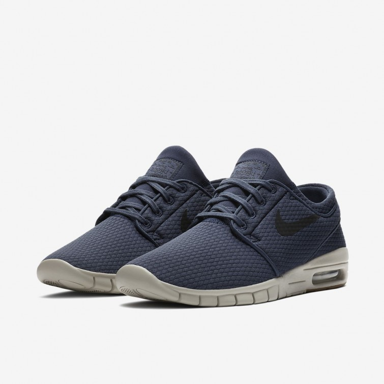 99c5f82f0336 ... Nike SB Stefan Janoski Max Skateboarding Shoes For Men Thunder Blue Gum  Medium Brown