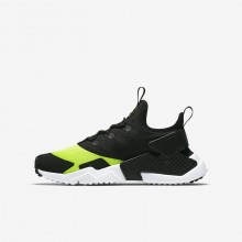 Nike Huarache Run Drift Lifestyle Shoes For Boys Volt/White/Black 584EIVGR