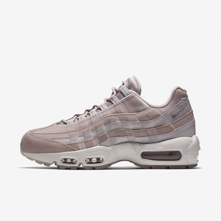 2c102e02394c0d Nike Air Max 95 Lifestyle Shoes Womens Particle Rose Vast Grey Summit White  451NYZLU